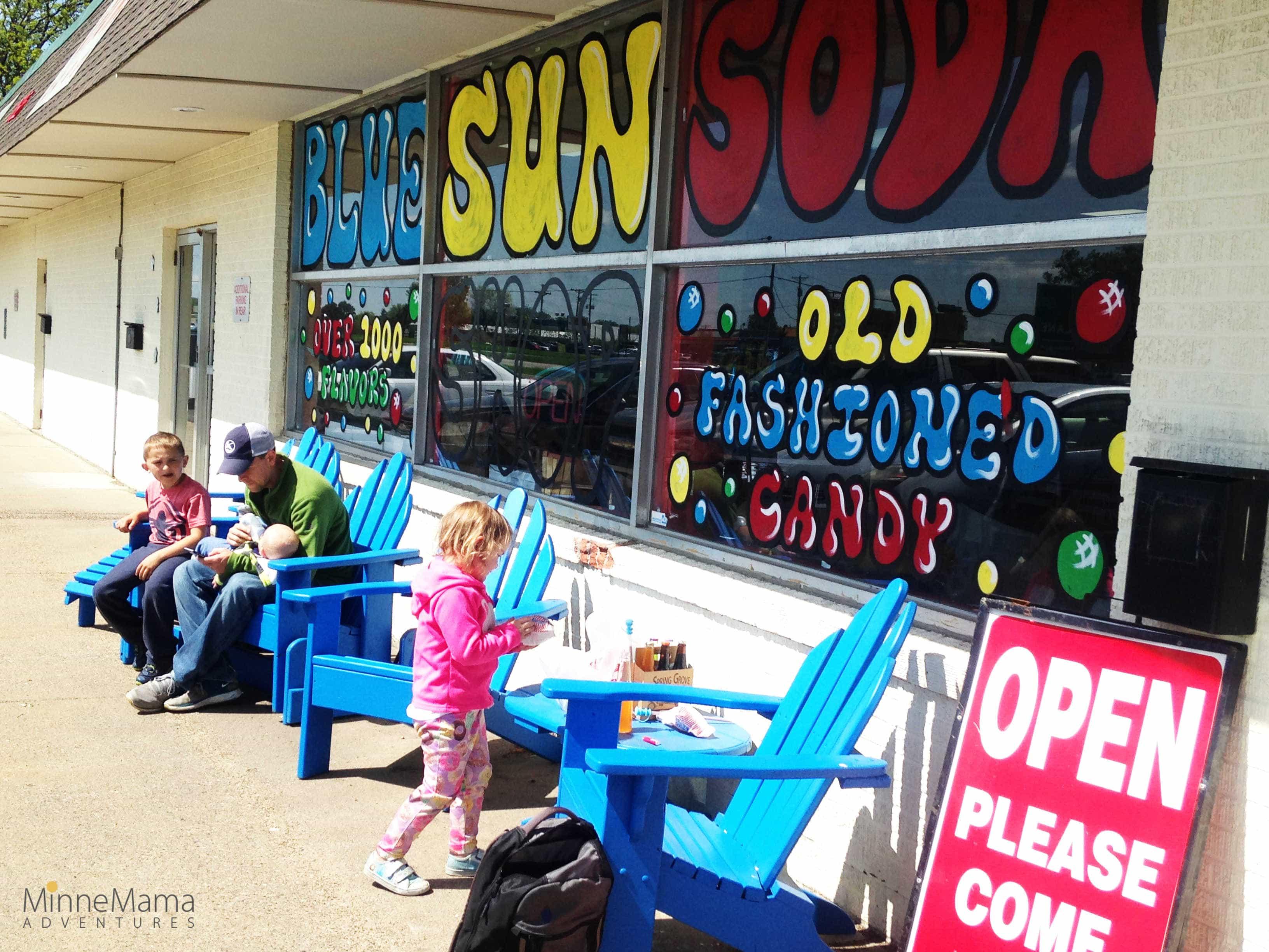 blue sun soda shop