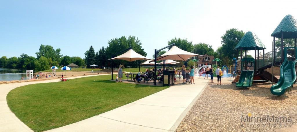 Round Lake Park Splash Pad Eden Prairie Minnesota
